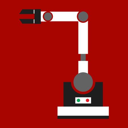 Lathe machine icon. Flat illustration of lathe machine vector icon for web on white background
