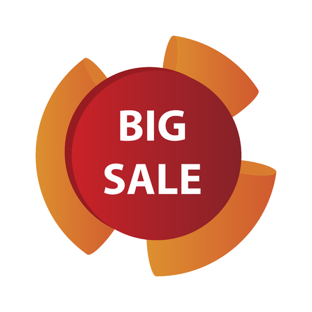 Mega Sale with Upto 50% Discount Offer, Creative Poster, Banner or Flyer design, 3D typographical background, Vector illustration. Stock Vector - 124896398