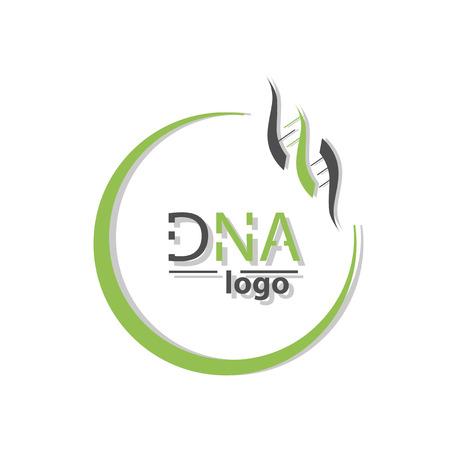 DNA Helix Logo Template. Genetics Vector Design. Biological Illustration
