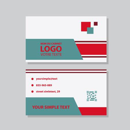 Modèle de carte de visite créatif et propre. Illustration vectorielle de conception plate. Conception de papeterie