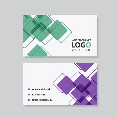 Creative and Clean Business Card Template. Flat Design Vector Illustration. Stationery Design Vettoriali