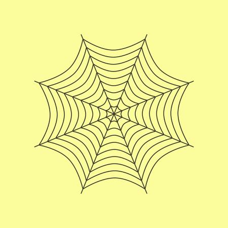 flat illustration on stylish background of spider web