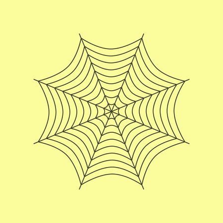 vlakke afbeelding op stijlvolle achtergrond van spinnenweb