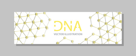 Molecular structure with connected lines and dots. Scientific pattern atom DNA with elements for magazine, leaflet, cover, poster design Illustration