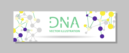 Genetics Testing Science DNA Double Spiral Abstract Background Vector Art Design Illustration