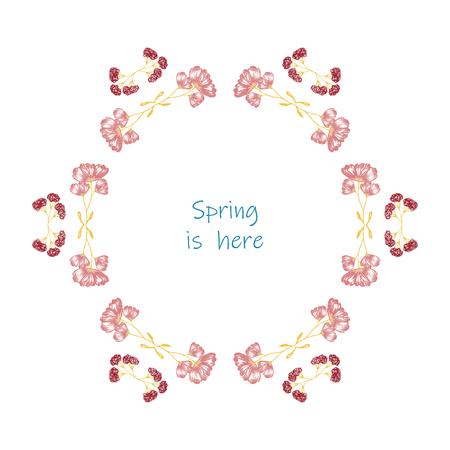 Set of elegant floral elements for your design