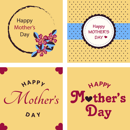 Happy Mothers Day Calligraphy Background