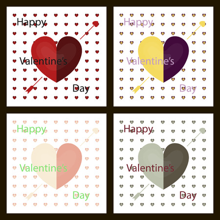 Set of Happy valentines day typography vector design with paper cut red heart shape hot air balloons flying in background. Vector illustration.