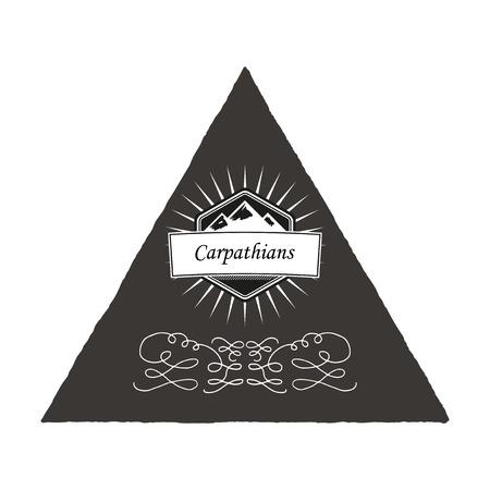 Poster Carpathian Mountains. Vector eps10