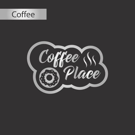 black and white style icon coffee place