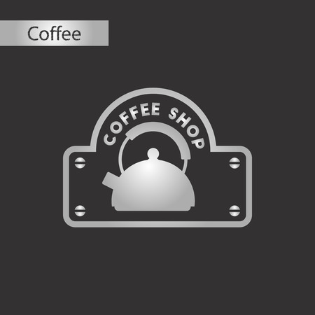 black and white style icon of Coffee shop