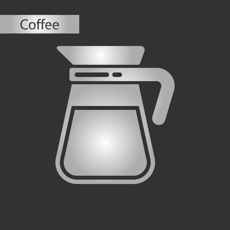 black and white style icon glass coffee maker