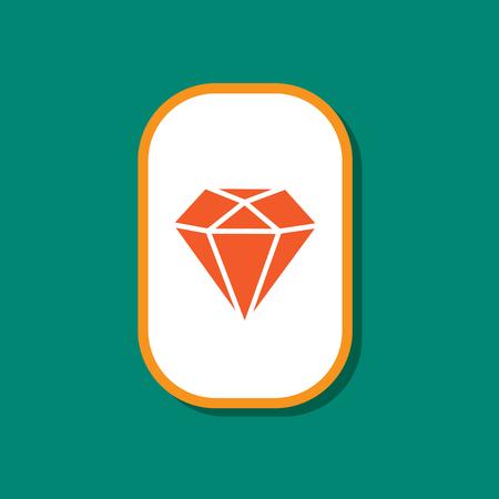 paper sticker on stylish background of diamond symbol Illustration