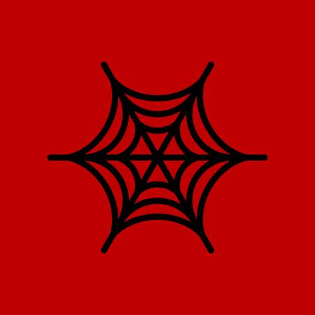 plano icono elegante fondo arañas web