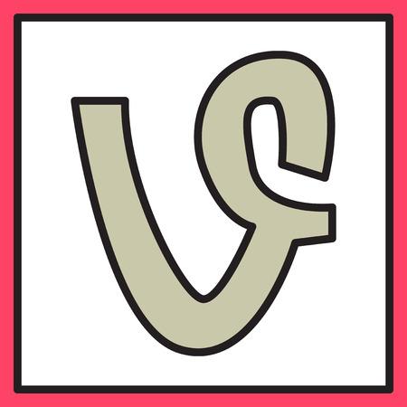 Flat of vine icon vector Illustration