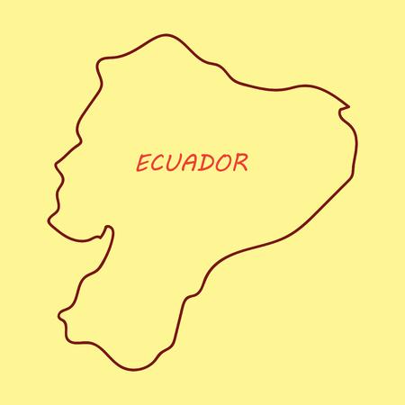 Vector map of Ecuador with regions and flags of provinces Ilustração