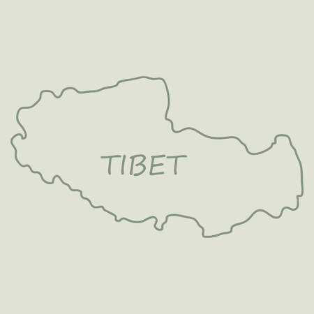 Highly Detailed Country map Tibet