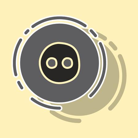 sticker unusual look web icon of modern social network Flickr.