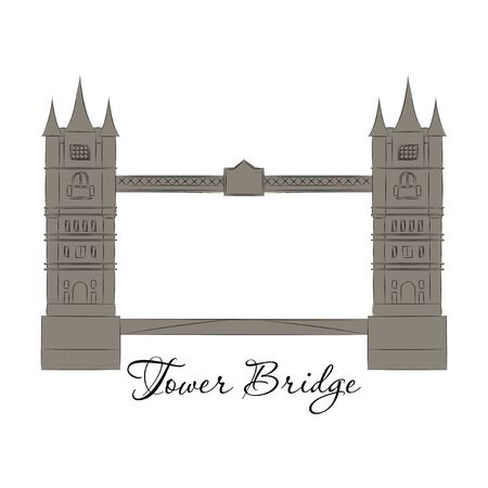 London Bridge  Attraction of the capital of England. Vector illustration