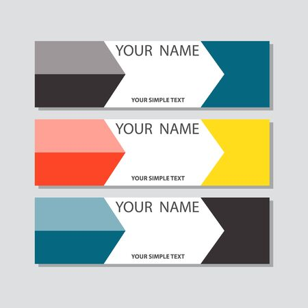 abstract corporate business banner template, horizontal advertising business banner layout template flat design set , clean abstract cover header background for website design,