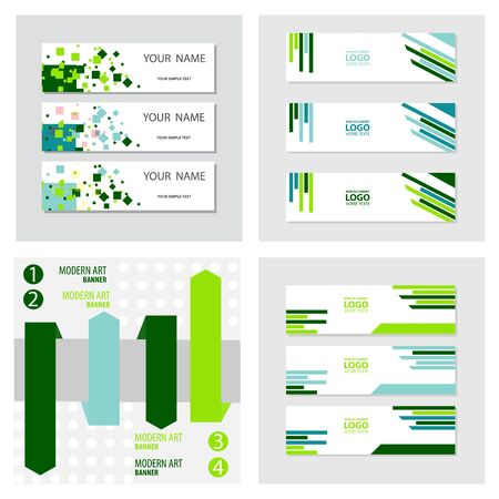 Set of abstract corporate business banner template, horizontal advertising business banner layout template flat design set , clean abstract cover header background for website design