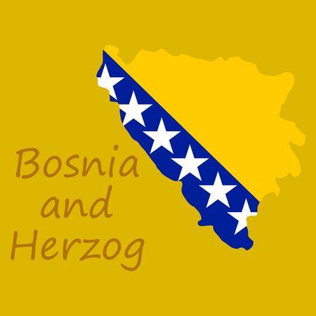 Bosnia and Herzegovina Political Map with capital Sarajevo, national borders