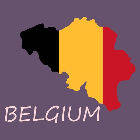 Belgium map with shadow effect Illustration
