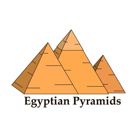 Pyramide d'Egypte. Pyramide de Gizeh. Vecteurs