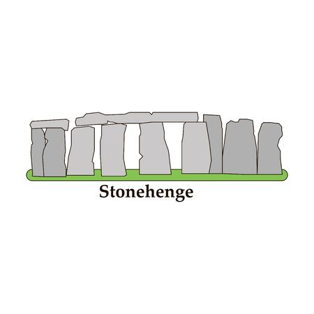 Stonehenge icon isolated on white background. Vector illustration for prehistoric religious landmark architecture.