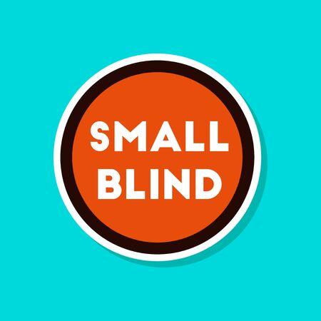 paper sticker on stylish background poker small blind