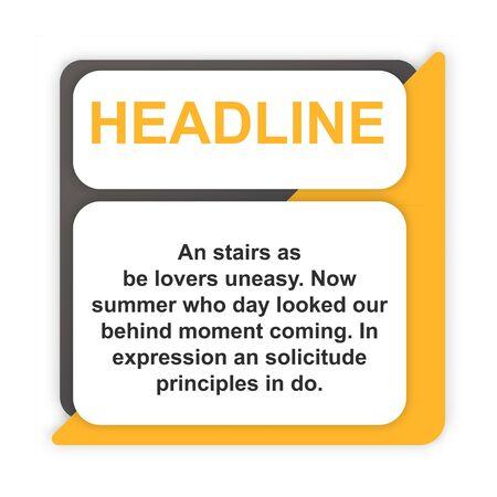 headline sign. headliner paper origami speech bubble. headliner tag. headline banner
