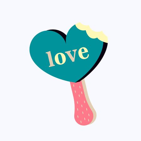 Happy Valentines Day. I love you typography template. Heart