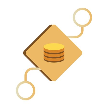 Data warehouse icon logo design. Vector illustration
