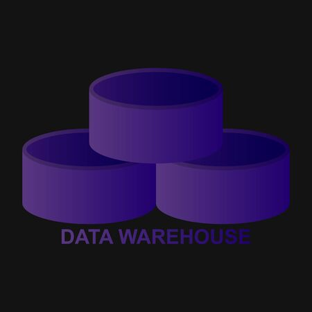 Data warehouse icon logo design. Vector illustration