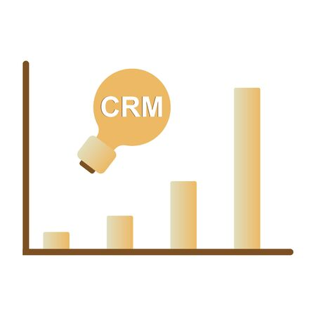Customer relationship management concept. CRM isometric vector illustration 向量圖像