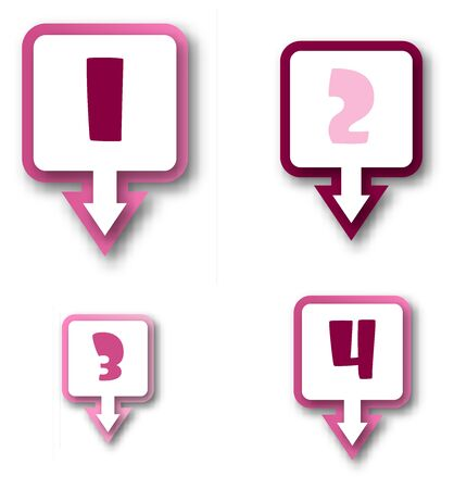 One two three four progress bar stickers Stockfoto - 129436383