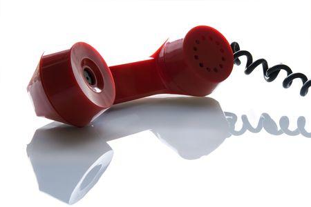 Old telephone tube on a white background Stock Photo - 3801481