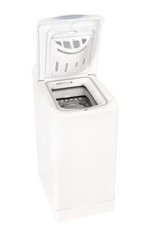 white washing machine on a white background  Stock Photo