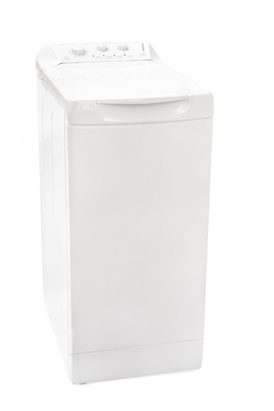 white washing machine on a white background  photo
