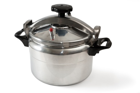 Pressure cooker it is isolated on a white background Stock Photo
