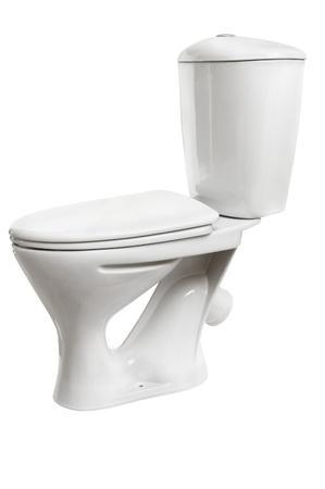White toilet bowl isolated on a white background Stock Photo - 17125362