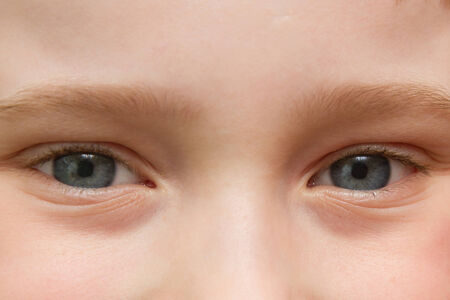 gray eyes: gray eyes child close up