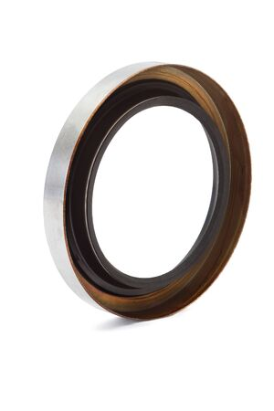 rubber gasket: Oil seal isolated on white background Stock Photo