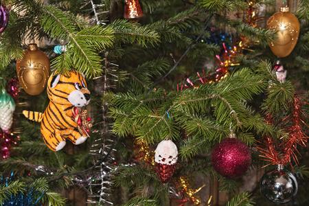 Christmas-tree decorations on a christmas fur-tree