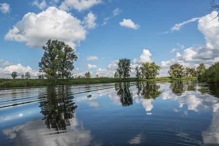 Beautiful summer landscape with a river Stock Photo