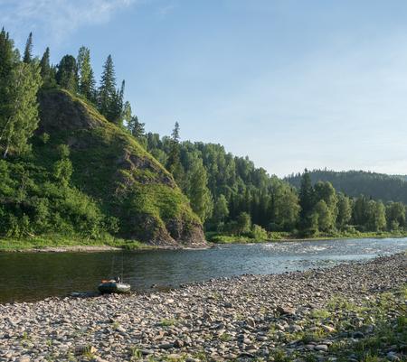 De rivier de Ters in West-Siberië in de zomer Stockfoto