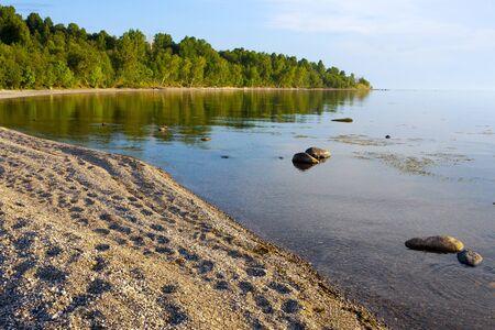 onega: Beautiful summer landscape with Lake Onega Stock Photo