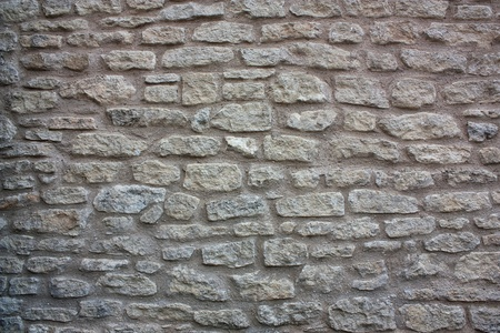 Old grey stone wall Stock Photo