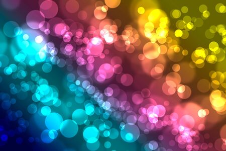 Artistic abstract multi coloured bokeh pattern
