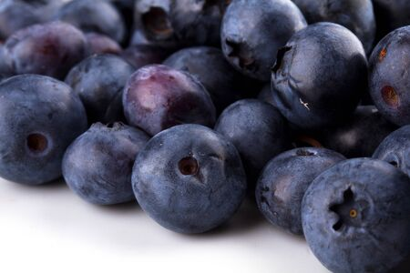 Blueberry on a white plate Stock Photo